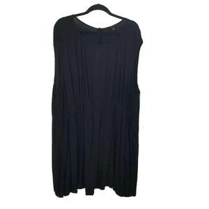 torrid black sleeveless tunic top 5x